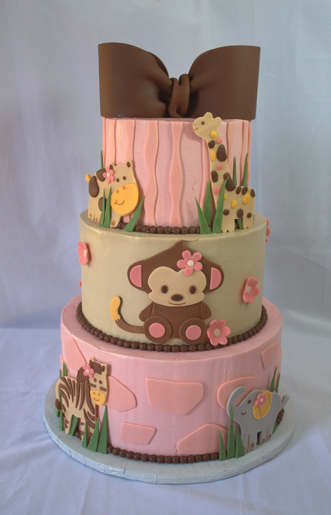 Jungle Baby Shower Cake Sara Mayes Flickr