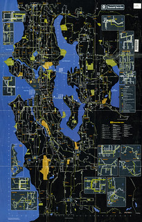 Seattle Metro bus system map (1983) | by Oran Viriyincy