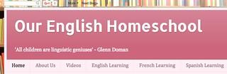 Our English Homeschool