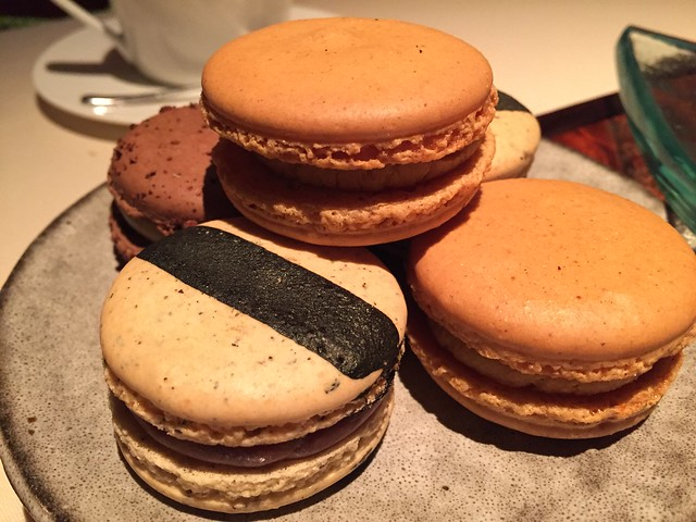 Earl Grey, Pumpkin, and Coconut cream macarons
