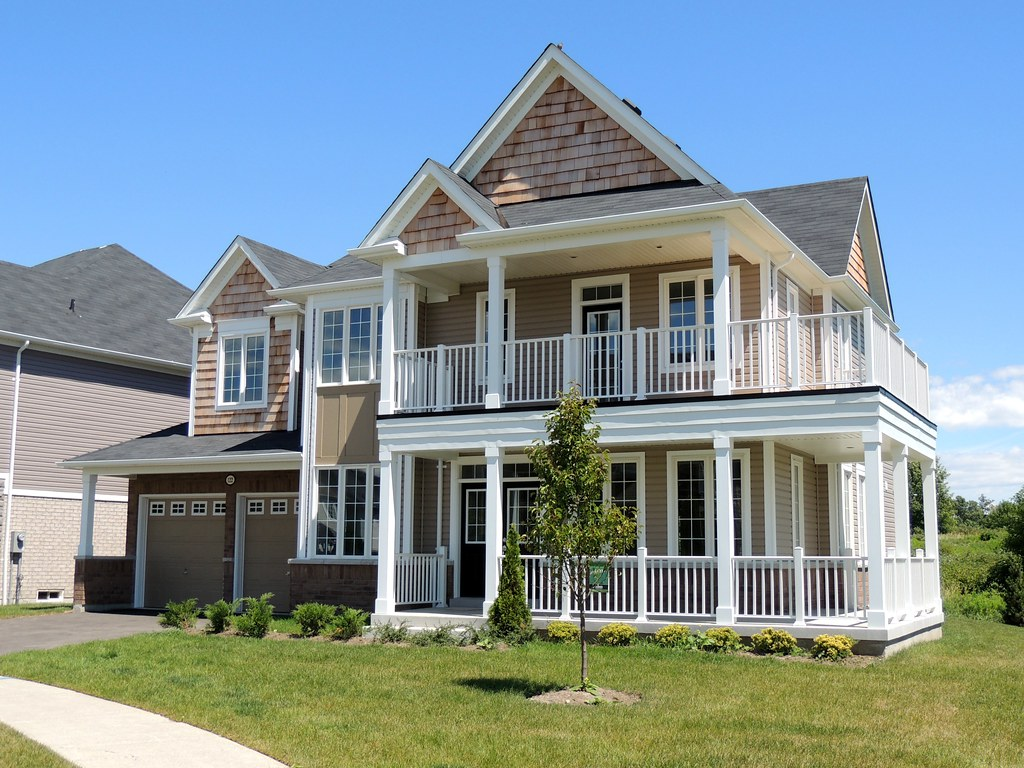 canadian suburban house ajax ontario newly buil flickr