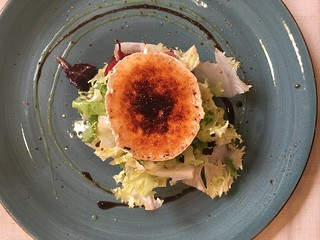 caramelized goat cheese salad at La Lluna Barcelona | by Kate Wirth