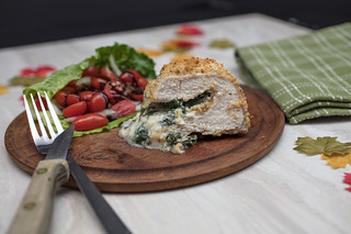 Stuffed Pork Chops with a Lettuce and Tomato Salad | by Transient Eternal
