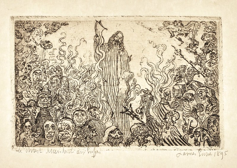 James Ensor -  Christ Descending Into Hell, 1895