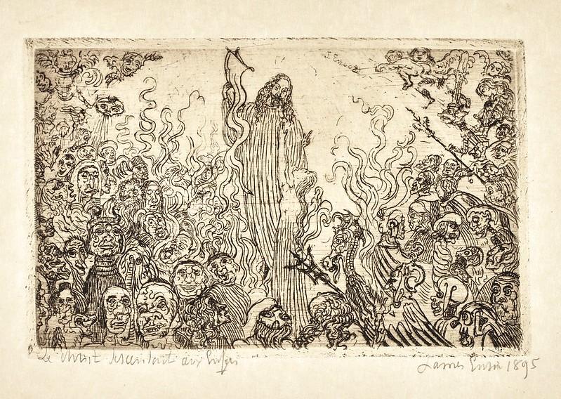James Ensor - Christ Descending Into Hell, 1895