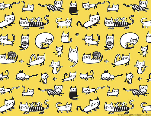 Kitties | by Flora Chang | Happy Doodle Land