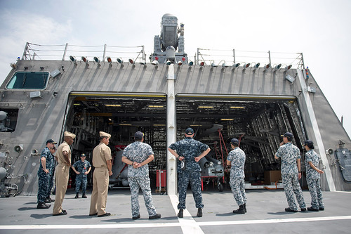 Singapore Naval Officers Tour USS Coronado