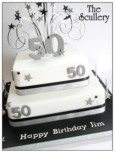 50th Birthday Cake The Scullery Louise Flickr