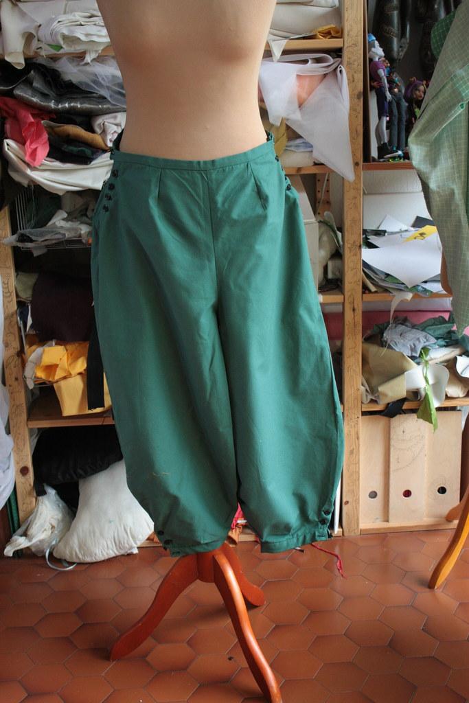 Pantalon court, d'après patronage Belle Epoque