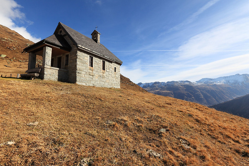 One room church in the Alps