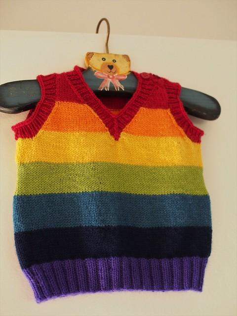 rainbow stripe vest