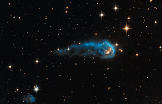 Hubble sees a cosmic caterpillar | by Hubble Space Telescope / ESA