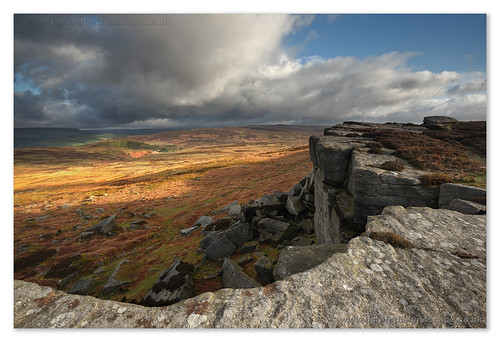 Stanage Light and Shadow | by Hadrian Frankland