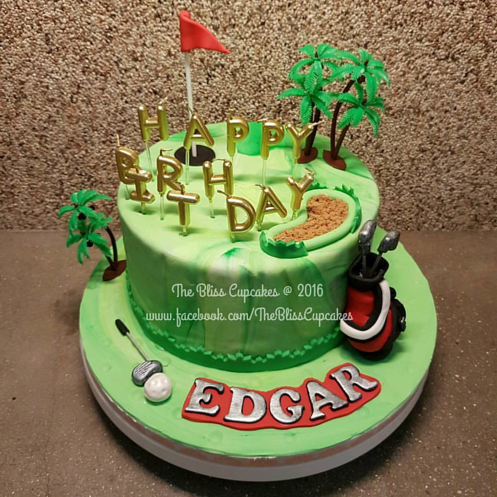 Golf Themed Birthday Cake Thank You UGL For This Order Their CEO Edgar