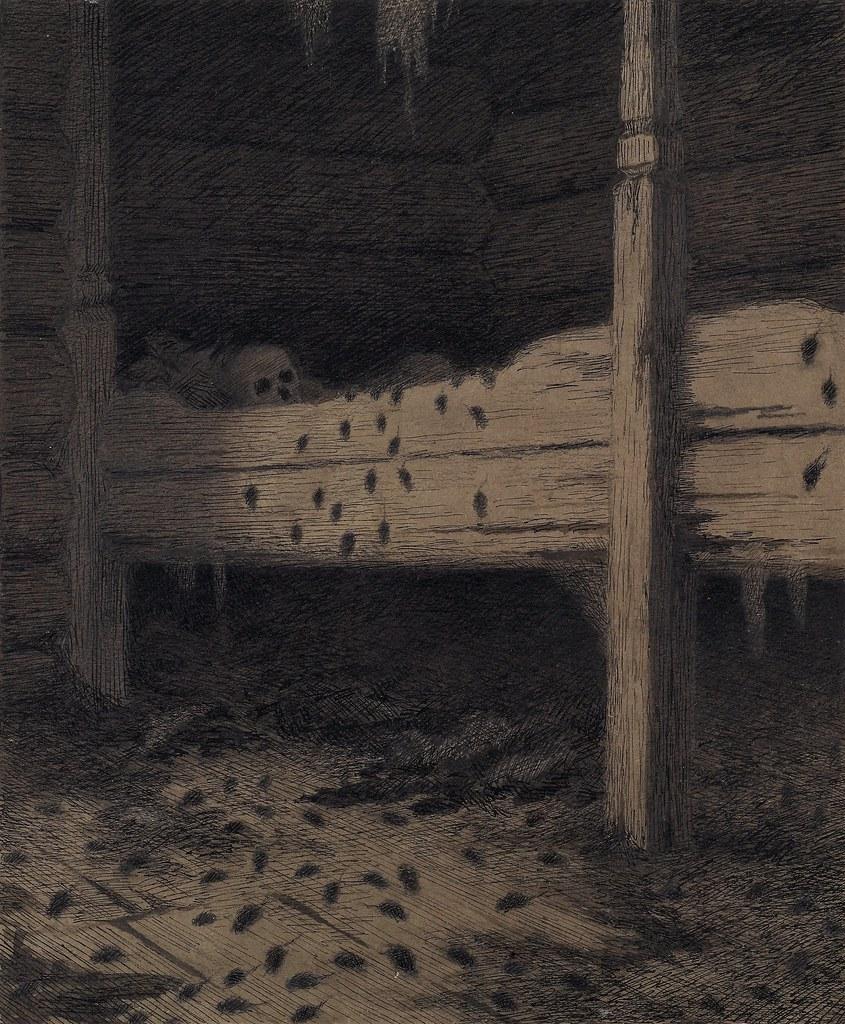 Theodor Kittelsen - Illustration of the Black Death, Mouse Town, 1900