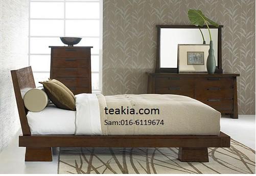 ... Japanese Bed Frame Teak Wood Furniture Malaysia Indoor Furniture Solid  Bedroom Sets
