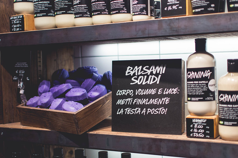 Natural haircare from the new Lush Duomo boutique