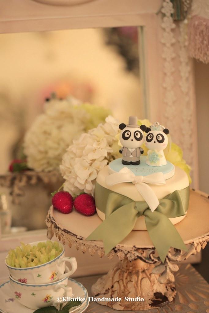 Handmade lovely and cute Panda wedding cake topper   Flickr