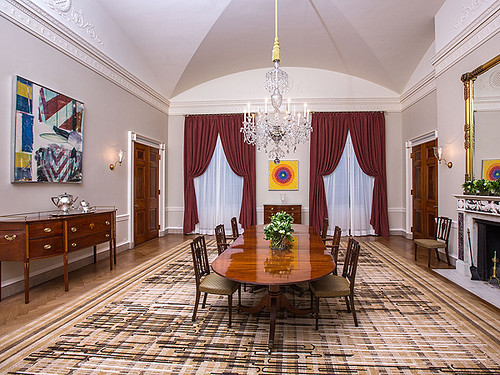 Which White House Room Did Obama Have Gold Drapes