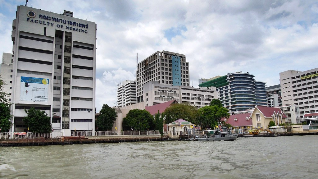 Siriraj Hospital from Chao Phraya River, Bangkok