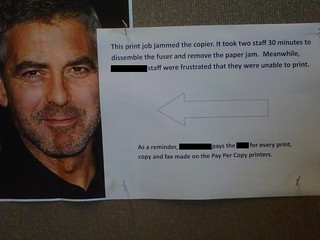 George Clooney, breaker of hearts (and printers) | by passiveaggressivenotes