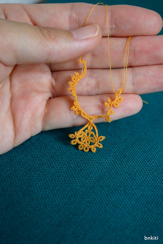 Now tatting!  for dolls necklace. | by bnkiti