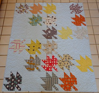 Modern Maples Throw Quilt | by Sewzalot