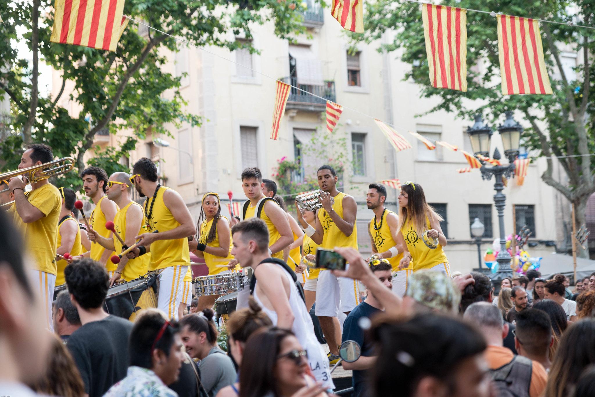 Barcelona Spain street parade party