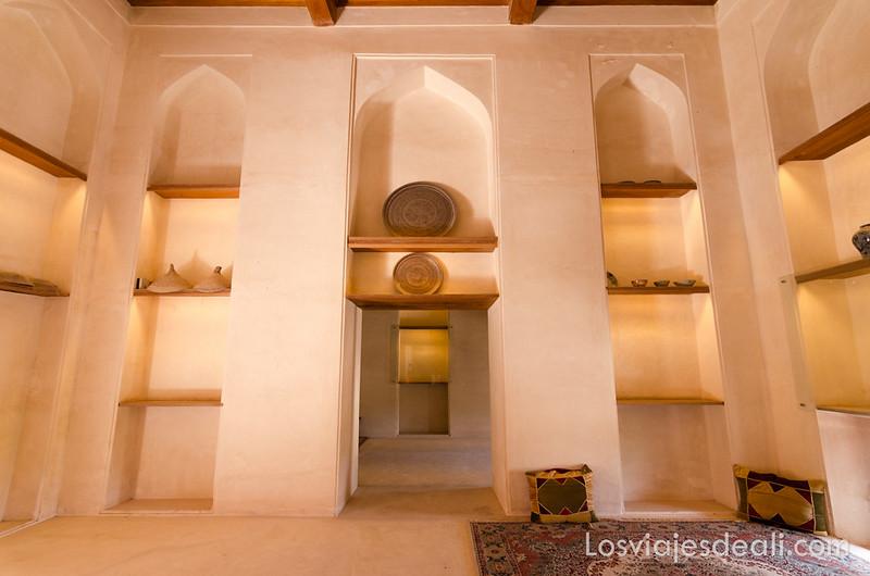 Jabreen Castle en las montañas de Omán