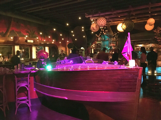 Bar boat at Pacific Seas
