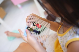 learning to do cross-stitching... | by Avocadolite Family