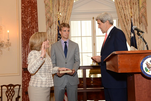 Secretary Kerry Officiates the Swearing-In Ceremony for Ambassador-Designate Jones | by U.S. Department of State