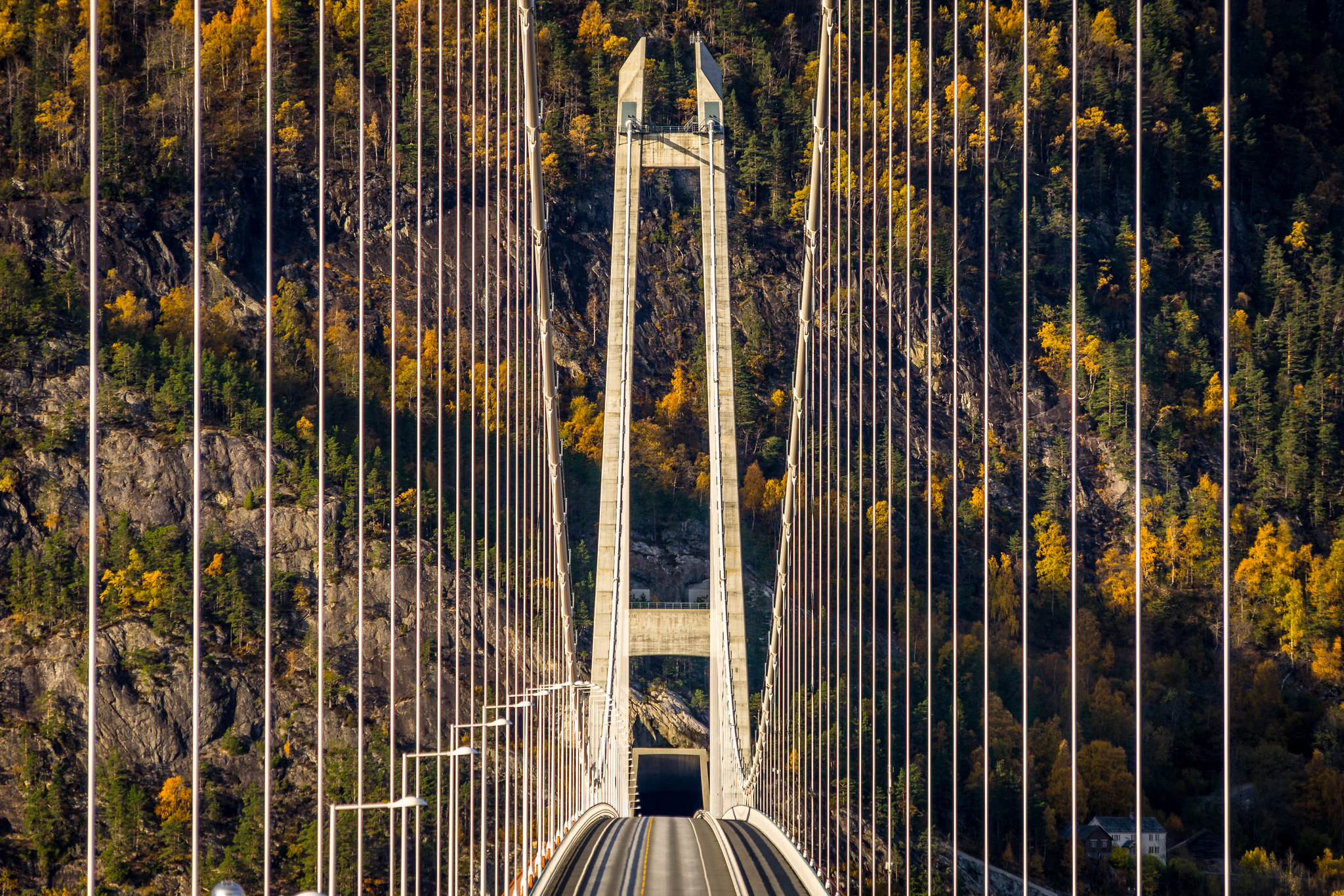 Hardanger Bridge, Hardangerbrua. Vallavik, Norway