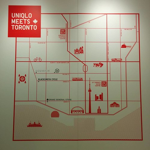 """Uniqlo Meets Toronto"" #toronto #maps #eatoncentre #uniqlo"