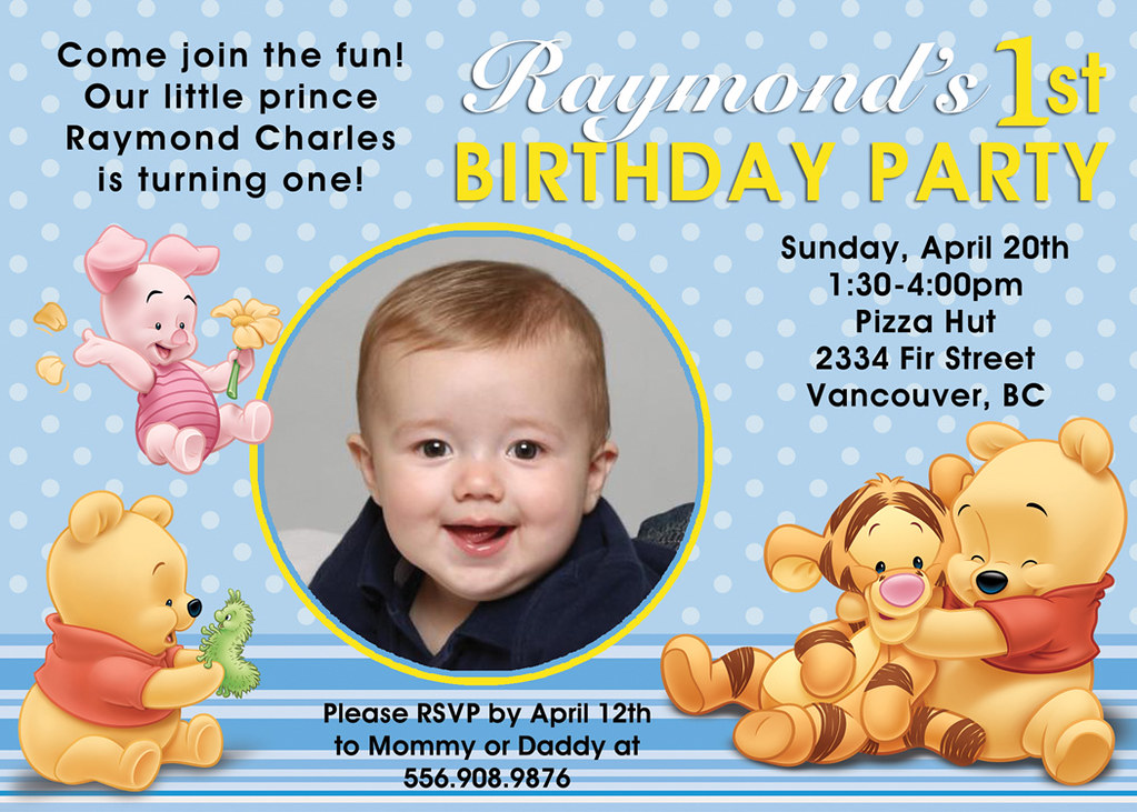 Winnie The Pooh- Custom Birthday Invitation | Printable Birt… | Flickr