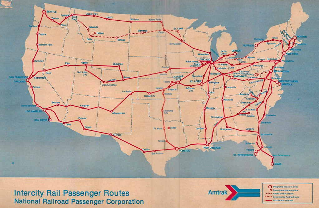 Amtrak Route Map 1971 From the November 14 1971 System T Flickr
