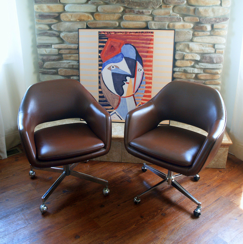 ... 1979 Saarinen For Knoll Executive Arm Chair Iconic MID CENTURY MODERN  Office Chairs Rolling Wheels Swivel