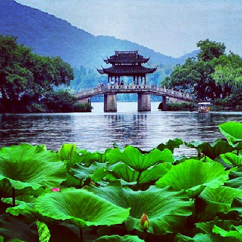 Lake Bridge Hanghzou China Asia Japan Korea Summ Flickr