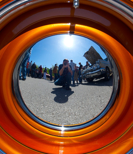 The Artist, as Reflected in a Hubcap | by Chris Koerner
