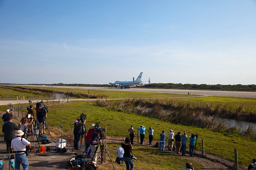 Shuttle Carrier Aircraft Arrives at Kennedy Space Center (KSC-2012-1991) | by NASA HQ PHOTO