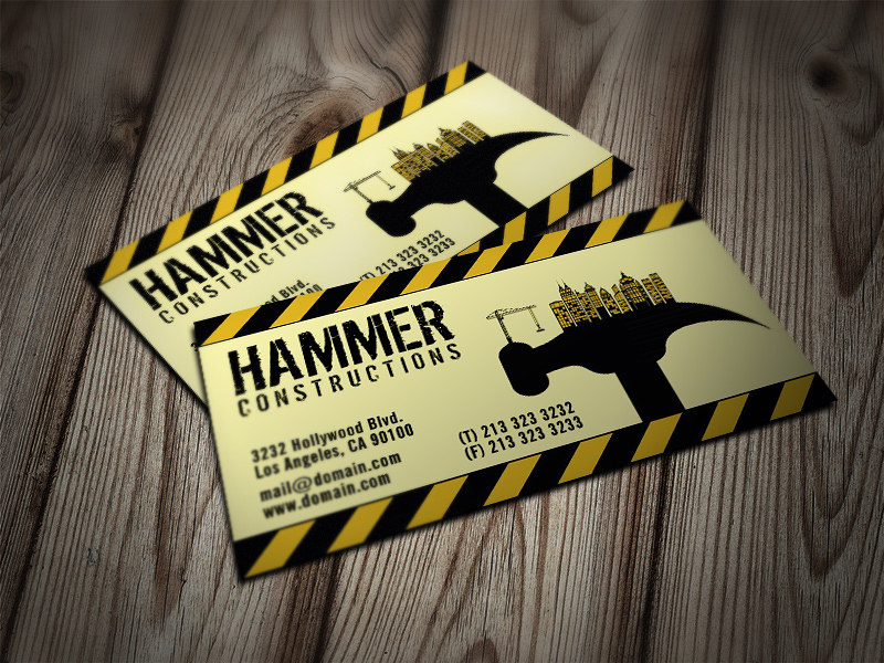 Construction Builder Business Cards | Business Card for cons… | Flickr