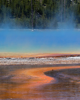 """Abstract Painting"" Thermal Pool at Yellowstone National Park WY 03Jul2011 