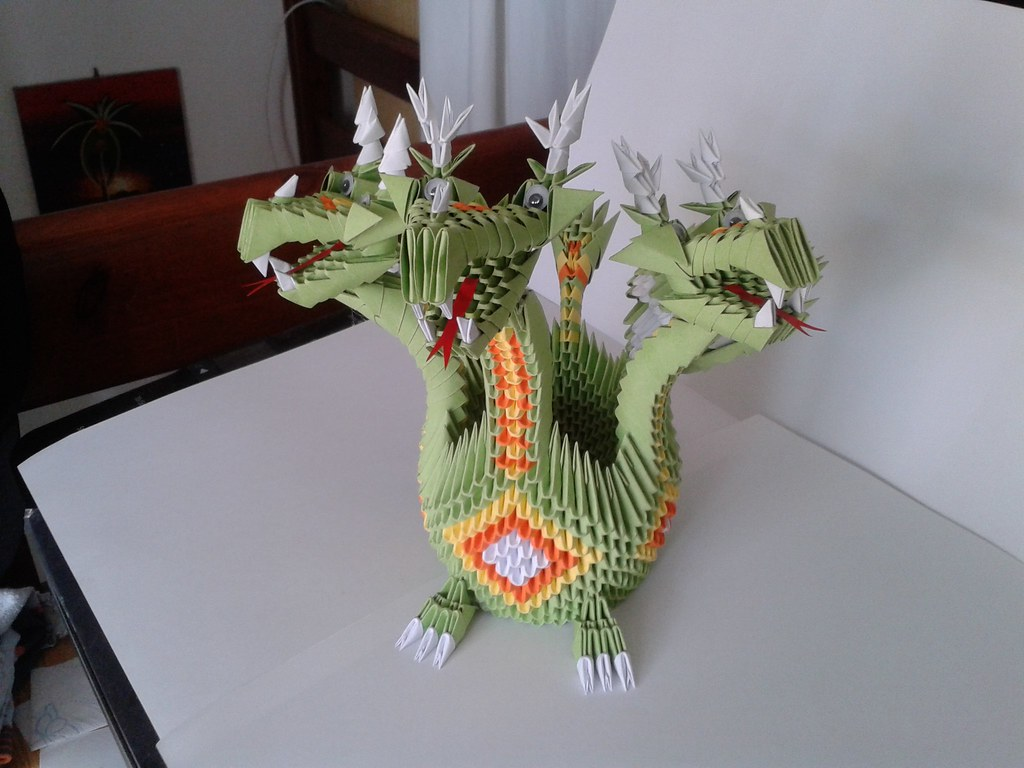 Hydra Monster Origami 3d