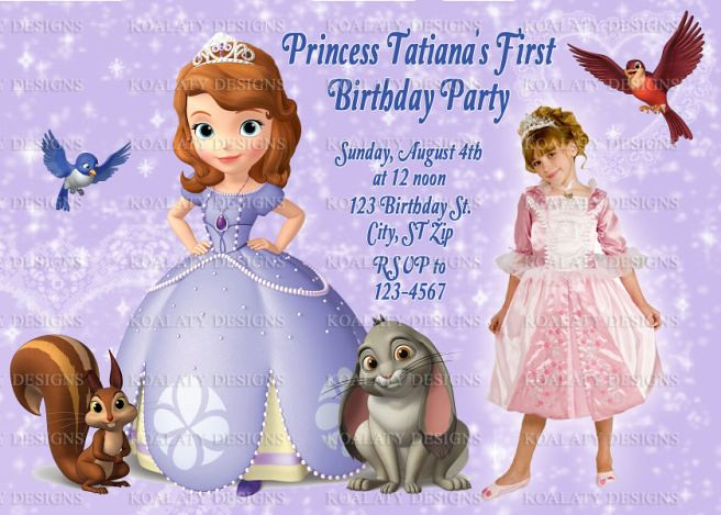 Personalized Sofia The First Birthday Invitations Personal Flickr