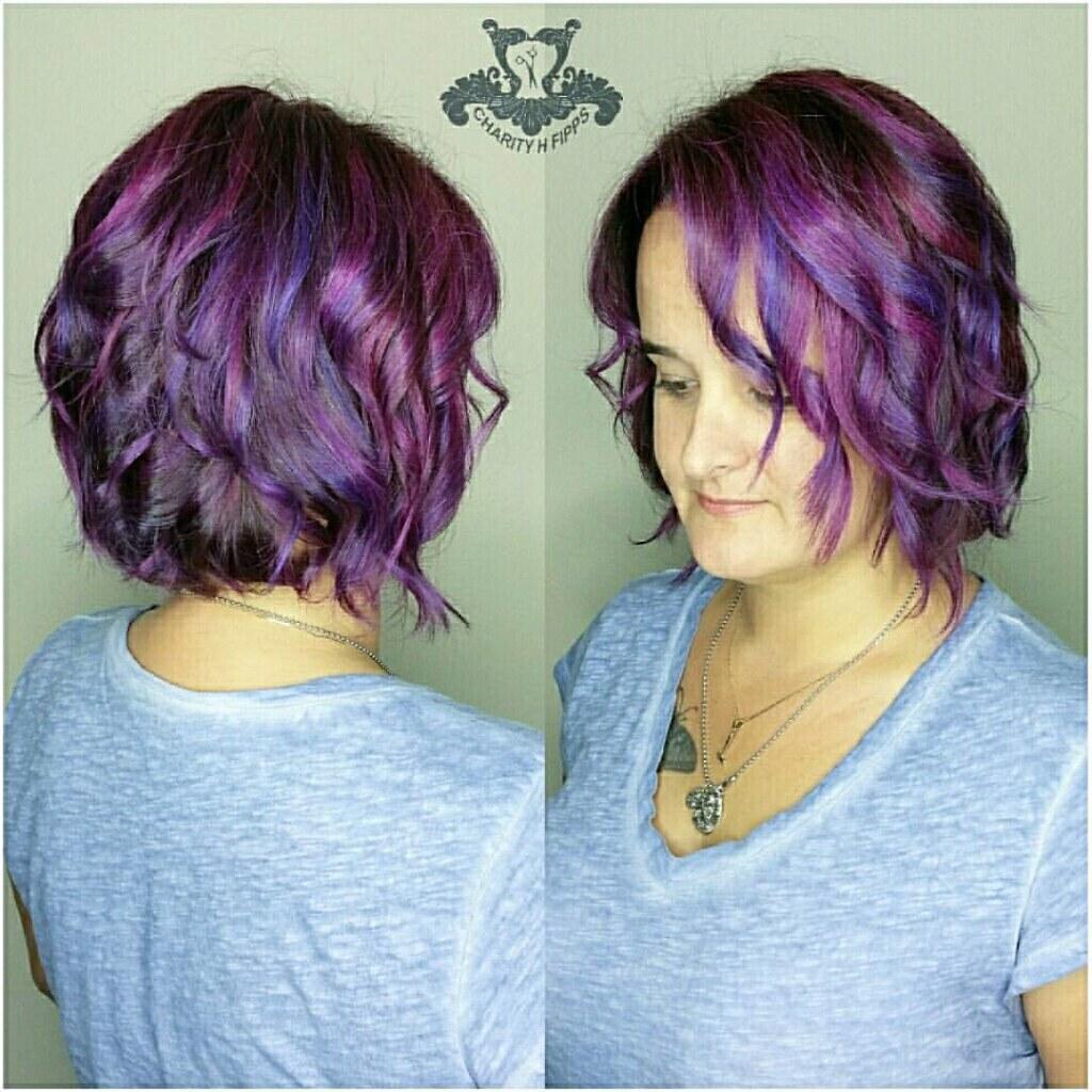 Purple Color Melt Long Textured Bob Haircut Joicocolori Flickr