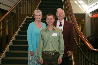 Doreene Boubel, Jacob Young and Ambrose Boubel '55 | by Texas A&M Foundation