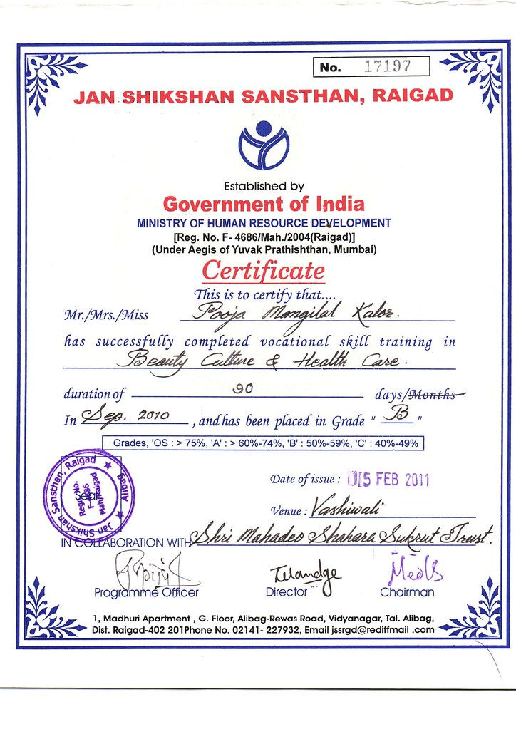 Govt approved beauty culture & health care certificate cou… | Flickr