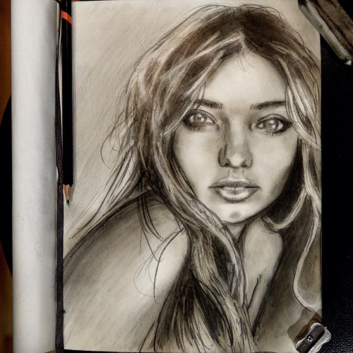 Sketch Is Just A Delicious Piece Of Human: Tonight's #sketch Is Of @mirandakerr Just Cause I Love The