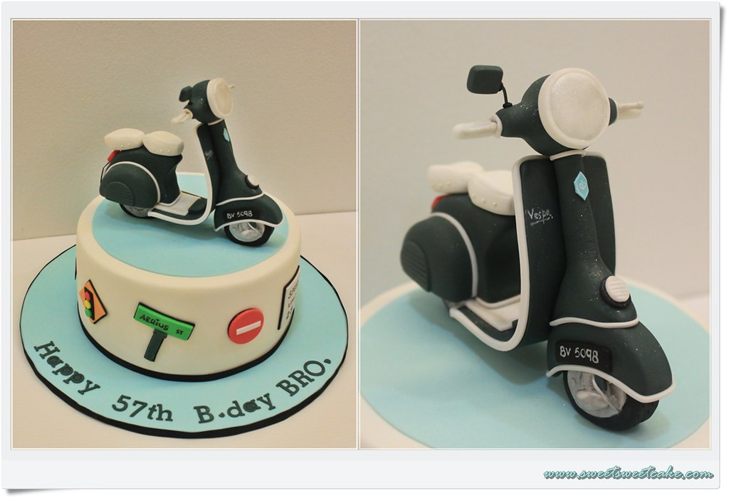 Vespa Scooter Themed Cake Thanks sweetsweet Jaslyn for the Flickr