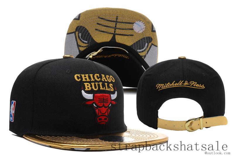 d848e44f24fad ... xiaozhuangzhnuang Chicago Bulls Snapback NBA Mitchell Ness Strapback  Hat Cap Adjustable Black